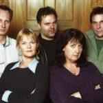 Original uppsättningen av R.E.A. Roligt elakt aktuellt som hade premiär på Hamburger Börs år 2000.