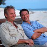 Finbesök på Tengah under inspelning av Expedition Robinson.2003 kanske?