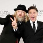 """2016 vann """"Allt För Sverige"""" en Emmy, TV-världens kanske tyngsta pris, i klassen Non scripted entertainment. Jag och producenten Christer Åkerlund glada som barn på galan i New York."""