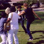 """Under inspelningen av """"American Aledu"""" i Hyderabad, Indien 1984. Jag och min kompis Klabbe hade fått rollen som skurkar i en Bollywod film."""