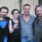 Caridgans Nina med sitt band på Allsången. Fruktansevärt bra!!!!!